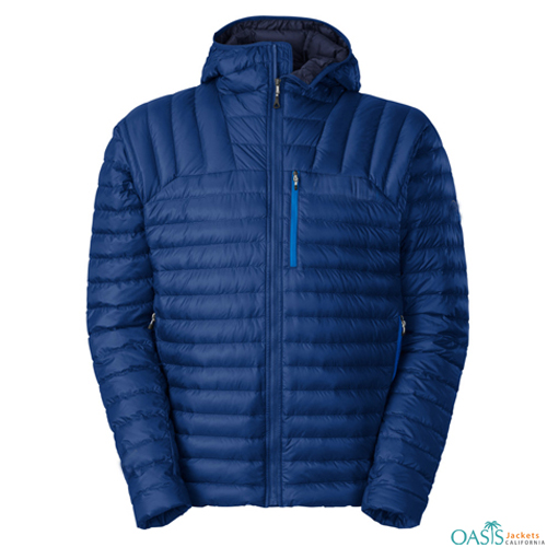 Alluring Blue Down Micro Jacket