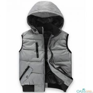 Antique Grey Hooded Vest