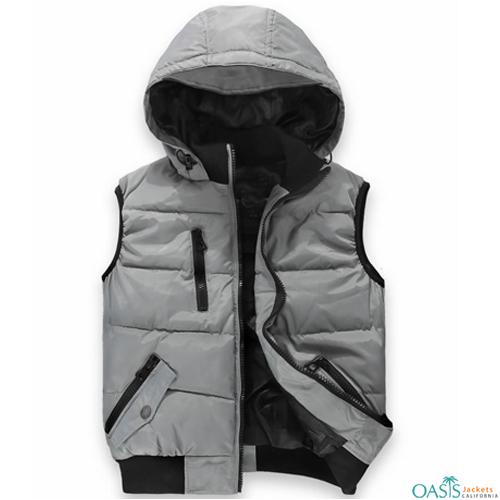 Antique Grey Hooded Vest