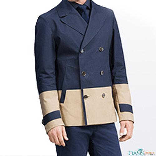 Beige and Blue Lifestyle Jacket