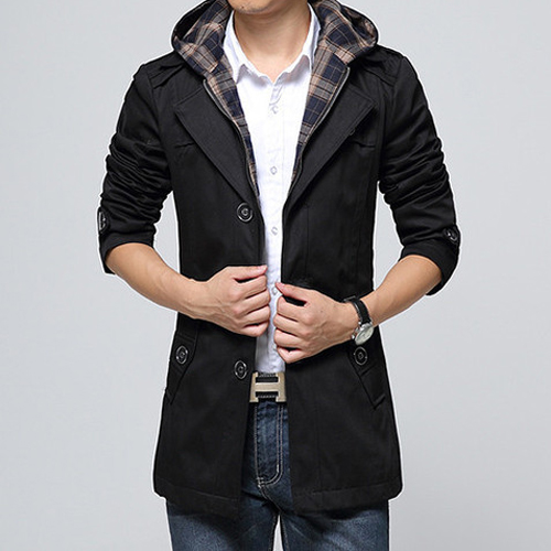 Black Winter Coat For Men