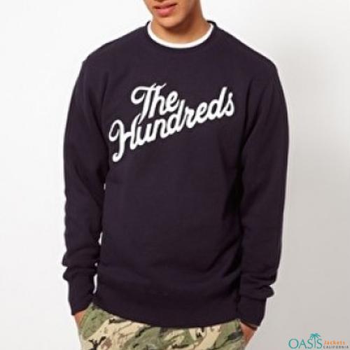 Black round neck sweatshirt