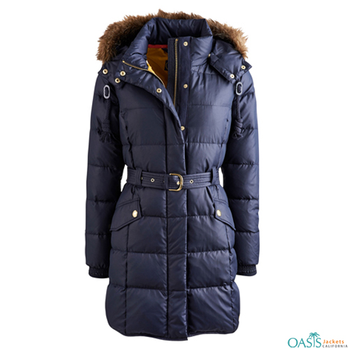 Blue Heavily Padded Coat