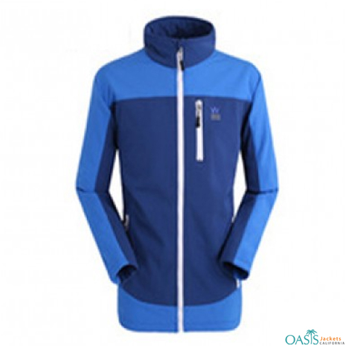 Blue on Blue Block Jacket