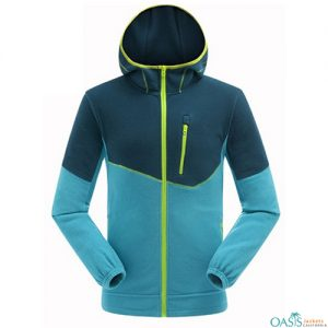 Wholesale Blue Polar Fleece Hoodie Jacket