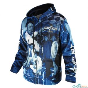 Blue Sporty Sublimation Jacket