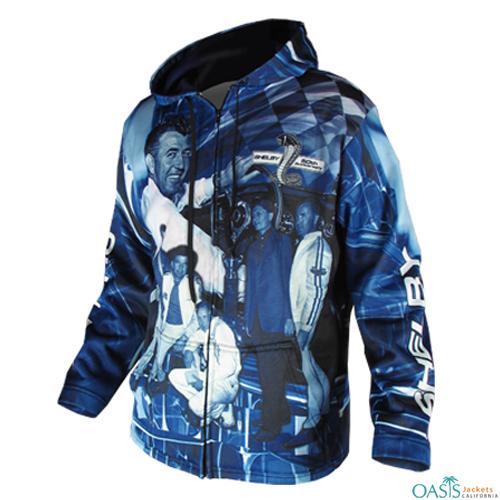 Blue Sporty Sublimation Jacket