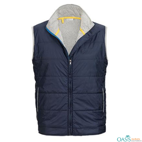 Blue Stylish Vest Jacket