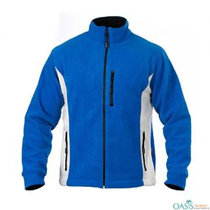 Blue And Gray Polar Fleece Jacket