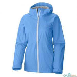 Bright Light Blue Rain Jacket