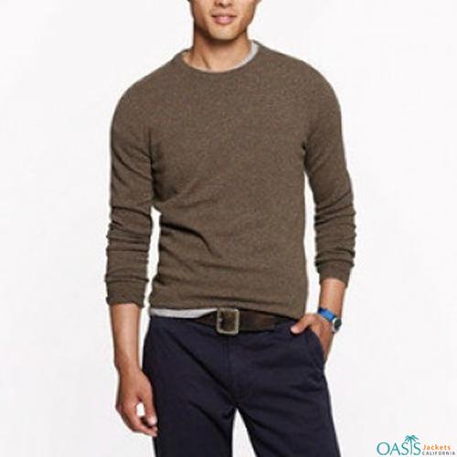 Brown coloured full sleeve sweatshirt