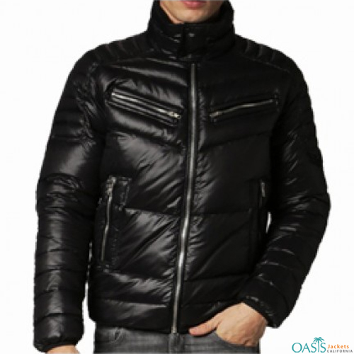 Captivating Black Down Jacket