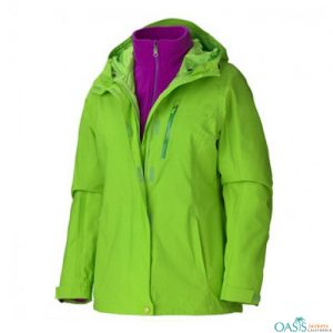 Wholesale Caribbean Green 3 in 1 Jacket