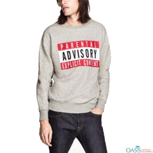 Casual grey sweatshirt