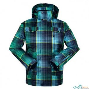 Checkered Blue Ski Jacket