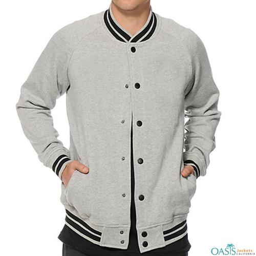 Classic Grey Varsity Jacket