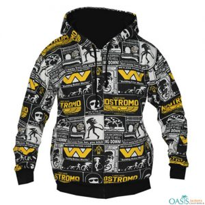 Classic Printed Hooded Jacket Manufacturer