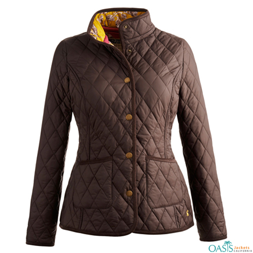 Classy Brown Quilted Jacket
