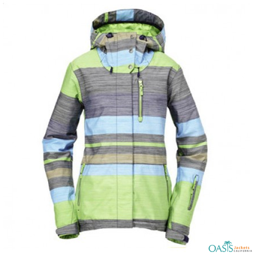 Colored Stripes Ski Jacket