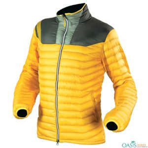 Corn Yellow and Grey Down Jacket