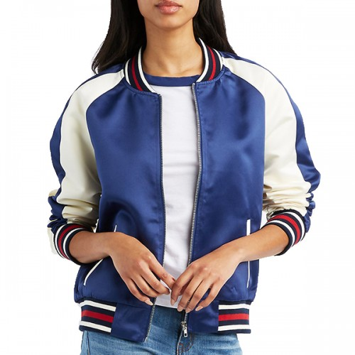 Custom Satin Varsity Jacket for Women