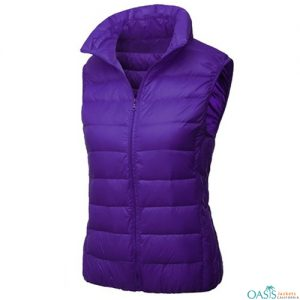 Cute Purple Quilted Vest Jacket