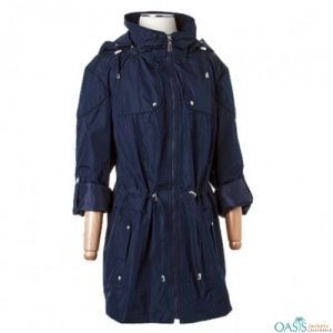 Dark Blue Hooded Jacket
