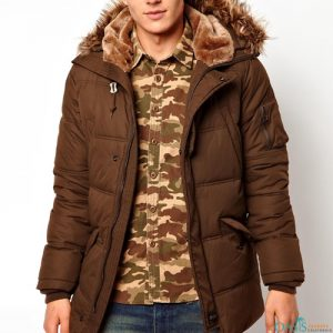 Dark Brown Parka Jacket