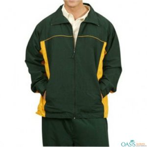 Dark Green and Yellow Regular Tracksuits