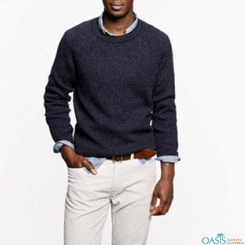Dark blue full sleeve sweatshirt