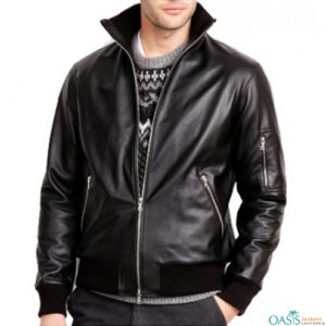 Dazzling Black Leather Jacket Manufacturer