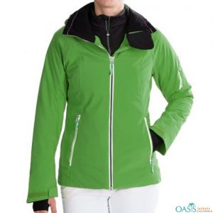 Fluorescent Green Ski Jacket