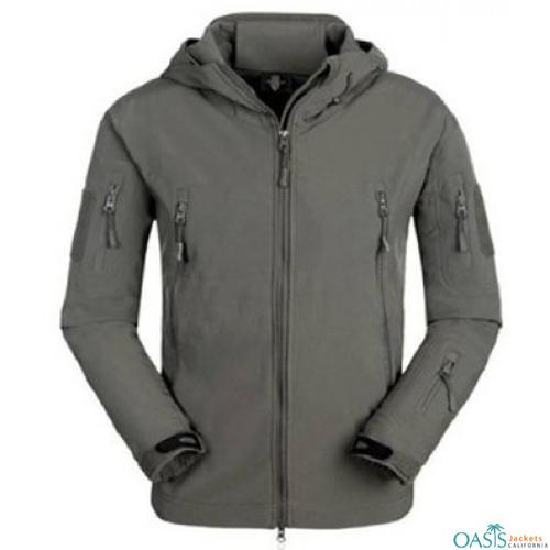 Wholesale Grey Smart Army Jacket