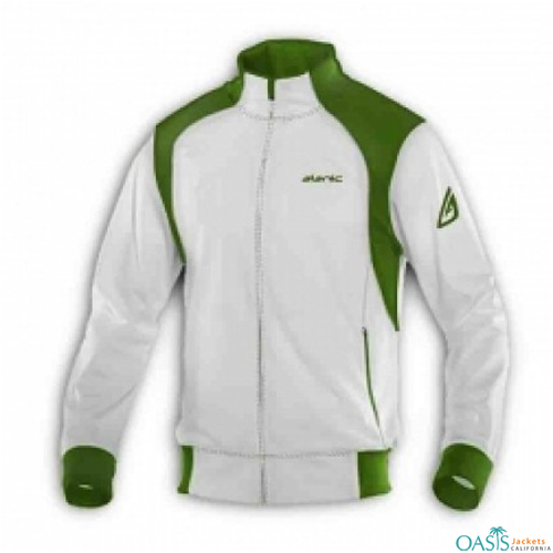 Green White Racer Jacket