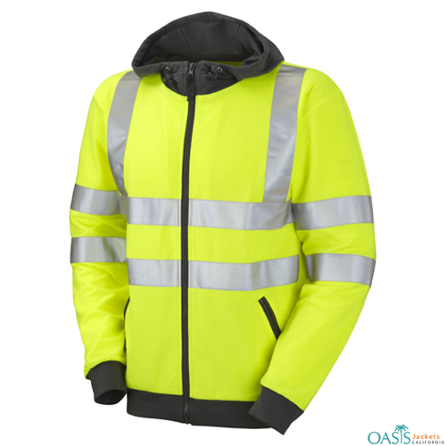 Green and Grey Border Safety Jackets