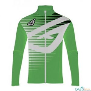 Green and White Sublimated Logo Jacket