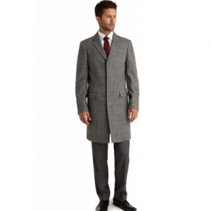 Grey Check Overcoat