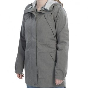 Grey Monotone Heather Rain Jacket