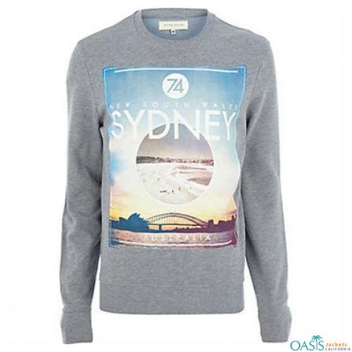 Grey Sydney Crew Neck Jacket