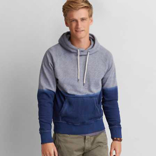 Grey and Blue Hoodie Manufacturer for Men