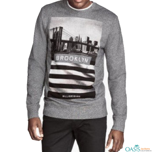 Grey full sleeve sweatshirt