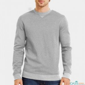 Grey round neck sweatshirt
