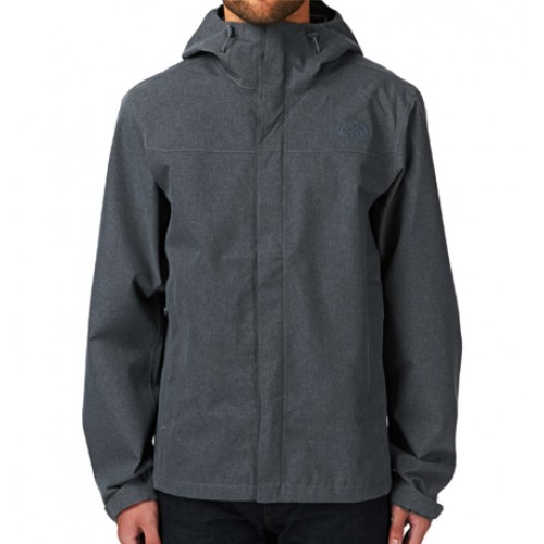High Neck Heather Rain Jacket