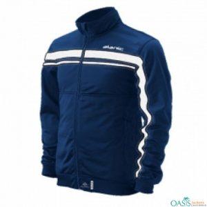 Impressive Blue and White Micro Jacket