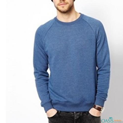 Light blue full sleeve sweatshi