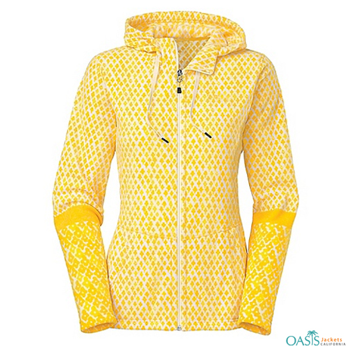Lime Yellow Sublimation Hoodie Jacket