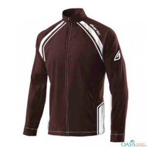 Maroon and White Pullover Jacket