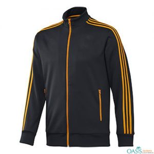 Wholesale Navy Blue Chrome Yellow Sports Jacket
