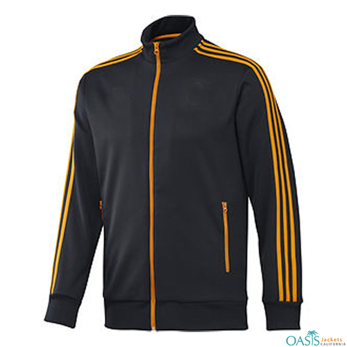 Wholesale Navy Blue Chrome Yellow Sports Jacket