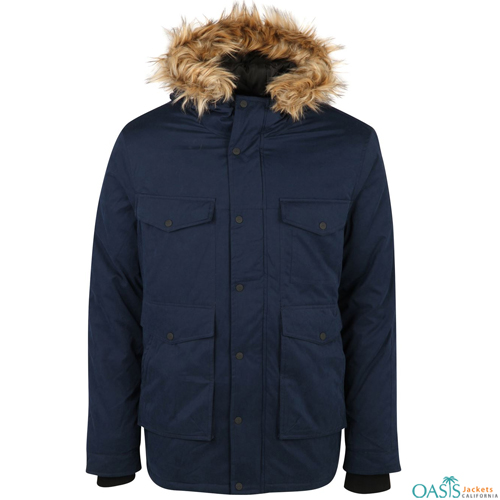 Navy Blue Parka Jacket